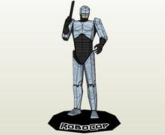 Robocop Paper Model - by Paper Juke -         A really nice paper model of Robocop, with 17 cm, by designer Paper Juke.