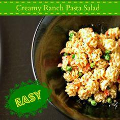 Creamy Ranch Pasta Salad @loavesanddishes.net