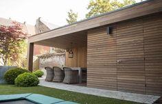 Outdoor Garden Rooms, Backyard Garden Landscape, Outdoor Living, Shed Design, Garden Design, Pergola Carport, Garden Office, Facade House, Pool Houses