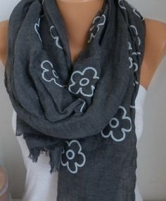 My Other NEW SCARVES, CROCHET and KNITTING Shop; http://www.etsy.com/shop/anils ------------------------------------------  Measurements : Rectangle  Lenght : 70 inches Wide : 36 inches  Cotton fabric, Soft, lightweight.  It is a very practicle ,useful , feminine , unique , soft and versatile accessory..  It is modern. It makes you to feel cozy ...  You have a lot of options with this beauty.  It can be a necklace, lariat, neck wrap, bandana or headband .....  This accesso...
