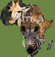 Here is yet another artistic creation using the shape of the African Continent.
