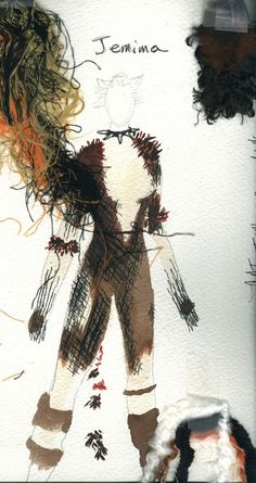 Jemima from cats costume sketch