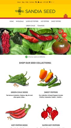 I'm getting ready to buy some Hot Pepper Seeds from Sandia Seed! http://www.sandiaseed.com
