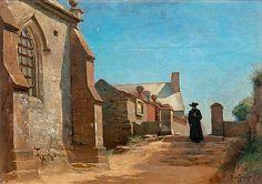 Village View by Eero Järnefelt, 1883 North Europe, Global Art, Art Market, Finland, Scandinavian, Auction, Scene, Landscape, Artists