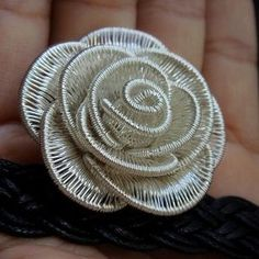 Wire woven rose  Want to learn more about wire crochet? You are most welcomed to My site  wire crochet world http://www.yooladesign.com