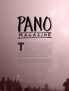 #ClippedOnIssuu from PANO MAG Issue 2