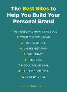Looking for guidance on building your personal brand? We've got you covered.