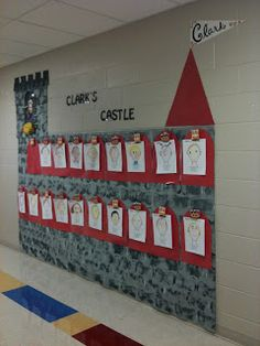 Fairy Tale Themed Classroom - Ideas & Printable Classroom Decorations Photos, ideas & printable classroom decorations to help teachers plan & create an inviting Fairy Tale themed classroom on a budget. Lots of free decor tips & pictures. Castle Theme Classroom, Classroom Themes, Math Classroom, Castillo Feudal, Chateau Moyen Age, Deco Disney, Fairy Tales Unit, Fairy Tale Theme, Classroom Displays