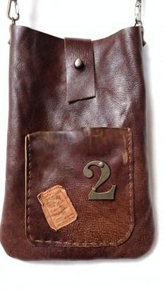 Leather bag inspiration. Get oil tan leather like this from TheLeatherGuy.org
