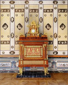 Closing my clock series with my favorite one in all the palaces of @realessitios - Located in the Great Hall of La Casa del Labrador in Aranjuez this massive clock is one of the most stunning clocks Ive ever seen. It was made by Juan Bautista Ferroni between 1798 and 1804 and its gilt bronze and marquetry plaques hides a complete mechanical organ including some timpanies. I imagine fashionable melodies at each hour...and Carlos IV a music lover enjoying them in a summer sunset. Summer Sunset, Source Of Inspiration, Music Lovers, Color Schemes, Labrador, Bronze, Fine Art, Antiques, Marquetry