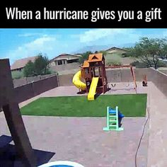 When a hurricane gives you gift - OnlineGIFs #funny #memes