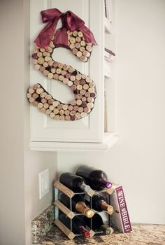DIY Decorative Initial Made From Wine Corks [ CLICK HERE! ] citywinecellar.com #DIY #cellar #wine #quality #experience