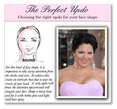 """""""Updo for Round Faces"""" by mmmartha ❤ liked on Polyvore featuring beauty"""