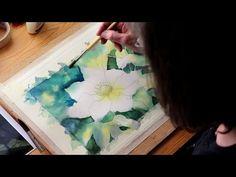 Watercolour Demo: Single White Flower Part 2 - YouTube