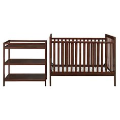 """Dorel Baby Relax Ryder 2 in 1 Crib with Changing Table - Espresso - Dorel Asia - Babies """"R"""" Us"""