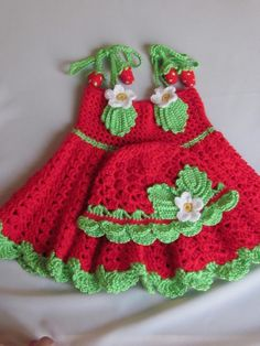 Handmade Girl Crochet Dress and Hat Set With by MagicalStrings, $45.00