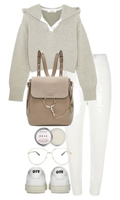 """""""Untitled #3382"""" by theeuropeancloset on Polyvore featuring River Island, Adeam, Off-White, Chloé, Herbivore and Gucci"""