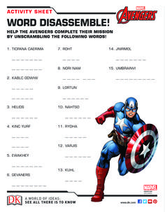 Show off your super hero knowledge with these Marvel activity sheets!