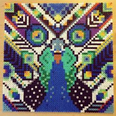 Hama perler bead art (inspired by the work of Camilla Drejer) by ivaloslife
