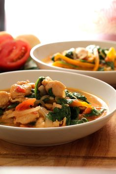 Skinny Chicken Peanut Stew - Under 275 calories per serving and absolutely decadent. from The Wanderlust Kitchen: #WeightWatchers #OnePotMeals
