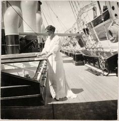 Empress Alexandra Feodorovna of Russia on board the Imperial Royal yacht,the Standart. Alexandra Feodorovna, Otto Von Bismarck, Hesse, Queen Victoria Prince Albert, House Of Romanov, Imperial Russia, Family Album, Color Of Life, Black And White Pictures