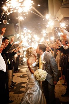 I love the idea of a sparkler send off.
