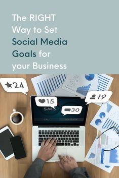 Set social media goals with KPIs, Benchmarks, and SMART goals. Make it measurable with a great social media strategy! Tips, Ideas, and Strategies to organically grow and market your small business on Instagram, Facebook, Pinterest, and other social media sites. Online marketing for creative and women entrepreneurs. Content marketing and DIY business tips. #socialmediamarketing #socialmediamanager #smallbusinesstips