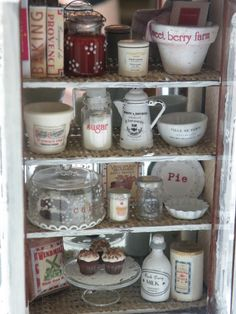 Miniature Country Chic Kitchen Hutch. $189.99, via Etsy.