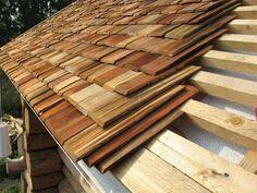 Pin on střecha A Frame Cabin, A Frame House, Cabin Homes, Log Homes, Roof Design, House Design, Timber Logs, How To Build A Log Cabin, Cedar Shingles