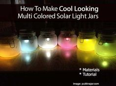 How To Make Cool Looking Multi Colored Solar Light Jars