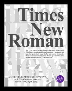 Afiche tipográfico by MininaGráfica #typo #timesnewroman
