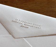 Perfect Embossed Customized Return Address On Elegant Wedding Invitation Envelope |  Invitations By Ajalon | Invitationsbyajalon.