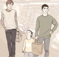 Kaisoo, Kyungsoo, Otp, Fanart, Family Guy, Ships, Fictional Characters, Love, Texture