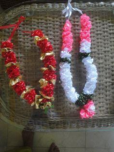 satin ribbon garlands