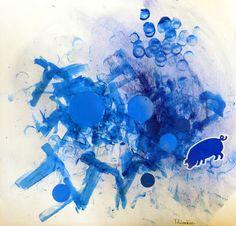 les petites têtes de l'art: Bleu