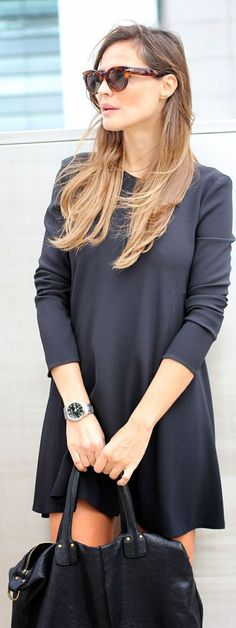Casual All black. We approve #LBD