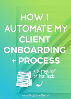 Check out my process for onboarding new clients to my freelance business. I use apps and tools to help automate the process and streamline my systems.