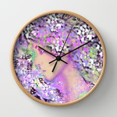 Ice Fairy Wall Clock by Tika Calderon - $30.00