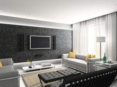 Wandgestaltung Wohnzimmer Mit Tapete Beispiele | Moderne ... Wohnzimmer Ideen Tapezieren