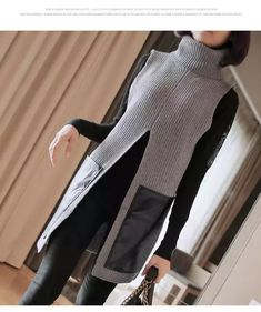 Knit Fashion, Sweater Fashion, Casual Sweaters, Sweaters For Women, Mode Outfits, Fashion Outfits, Diy Clothes, Clothes For Women, Sewing Blouses