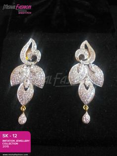 Superb designed #jewelry in very low rates. This jewelry is designed with shiny stones. We have limited designs left so place your order now! To place the order please contact on our given number.  PKR 1200 USD $12☛ {+92-322-3504542} #Earrings #Jewelry