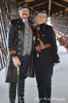 Viscount Eastman Wesley and the Lady of Steampunk NZ Festival Helen Steampunk Jansen.
