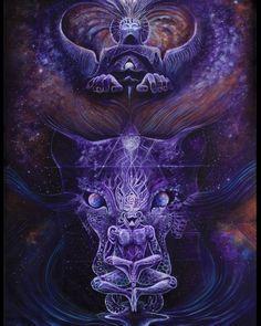 acrylics on canvas Psychadelic Art, Esoteric Art, Weed Art, Psy Art, Visionary Art, Galaxy Wallpaper, Surreal Art, Fractal Art, Spirit Animal