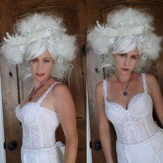 White Wig // OOAK Wig Art Wearable Art Party// by TiffanyDeMichele, $205.00