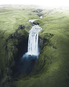 Did you know that there are over waterfalls in Iceland? There are towns and villages where the sound of water tumbling down the mountains is an ever-present natural soundtrack. Photo by the talented Iceland Waterfalls, Wanderlust, Wonderful Places, Arctic, Tourism, Nature Photography, Explore, Adventure, Vacation