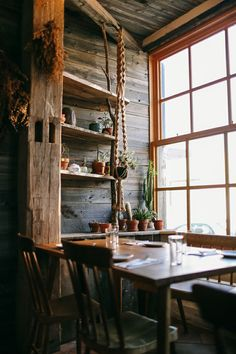 Country style kitchen table; cool