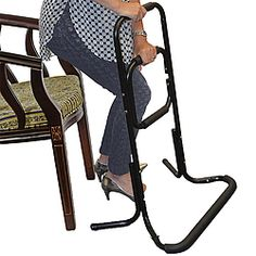 """Durable steel """"ladder"""" frame makes it easier for you to stand up from any chair."""
