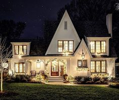 One of our favorite Charlotte builds, this charming fairytale cottage — previously featured by Tudor House, Cute House, My House, Style At Home, Fairytale Cottage, Villa, House Goals, Cottage Homes, Beautiful Homes