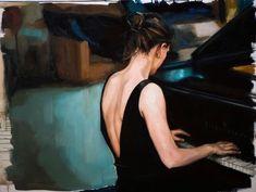 Canal~Art  « La pianiste » Tableau de l'artiste Edward B. Gordon