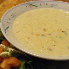 Poblano Corn Chowder Allrecipes.com
